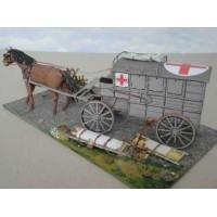 Ziekenwagen met paard